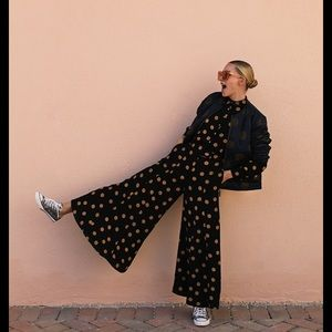 Anthropologie LOVELAND polka dot jumpsuit